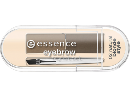 Тени для бровей Eyebrow Stylist Set Essence 02 natural blonde style: фото