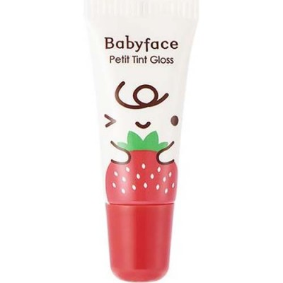 Блеск-тинт для губ It`s Skin Babyface Petit Tint Gloss Holika Holika, тон 02, клубника: фото