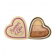 Бронзер I Heart Makeup Blushing Hearts MakeUp Revolution Hot Summer of love: фото
