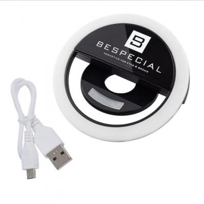 Портативная светодиодная лампа для смартфона Bespecial черная: фото