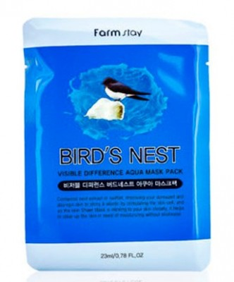 Маска с экстрактом ласточкиного гнезда FARMSTAY Difference bird`s nest visible difference mask sheet 23мл: фото