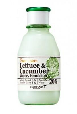Эмульсия увлажняющая с экстрактом огурца SKINFOOD Premium Lettecure Cucumber Watery Emulsion: фото