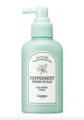 Тоник-эссенция для кожи головы освежающая SKINFOOD Peppermint Fresh Scalp Relaxing Tonic: фото