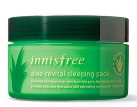 Маска ночная с алоэ вера INNISFREE Aloe Revital Sleeping Pack: фото