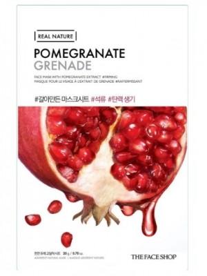 Маска с экстратом граната THE FACE SHOP Real Nature Mask Sheet Pomegranate: фото
