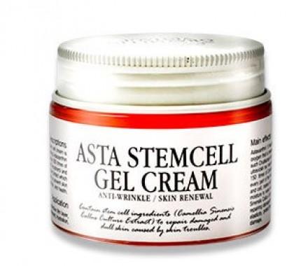 Антивозрастной гель-крем со стволовыми клетками GRAYMELIN Asta Stemcell Anti-Wrinkle Gel Cream 50г: фото