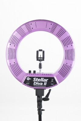 Кольцевая лампа Stellar LED Diva Ring Light II Hot pink: фото