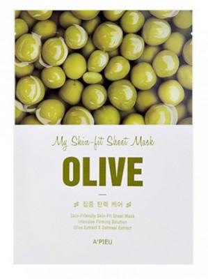 Тканева маска с оливой A'PIEU My Skin-Fit Sheet Mask Olive: фото