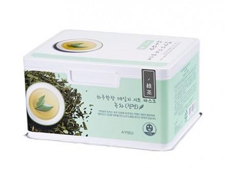 Маски для лица с экстрактом зеленого чая A'PIEU Daily Sheet Mask Green Tea Soothing: фото