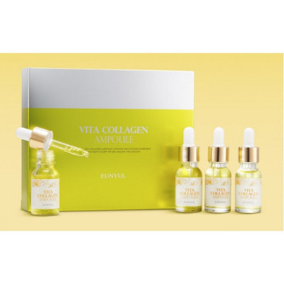 Сыворотка ампульная витаминная с коллагеном EUNYUL Vita Collagen Ampoule, набор 4 флакона: фото