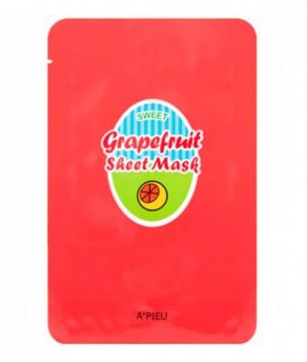 Тканевая маска с экстрактом грейпфрута A'PIEU Grapefruit & Sparkling Sheet Mask 23гр: фото