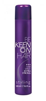 Спрей для волос экстрасильной фиксации KEEN HAIR SPRAY EXTRA STRONG 500мл: фото