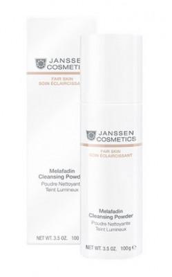 Пудра осветляющая очищающающая Janssen Cosmetics Melafadin Cleansing Powder 100г: фото