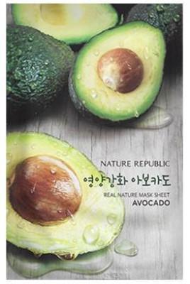 Маска для лица листовая NATURE REPUBLIC REAL NATURE AVOCADO MASK SHEET 23гр: фото