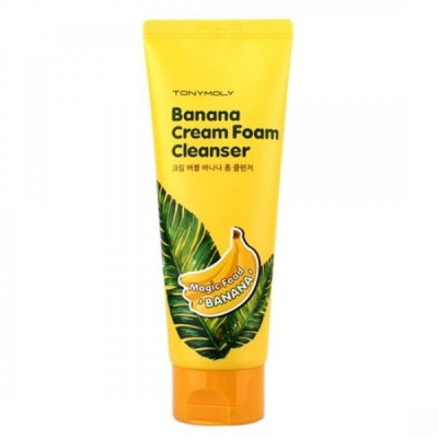 Крем-пенка для умывания TONY MOLY Magic Food Banana Cream Foam Cleanser 150 мл: фото