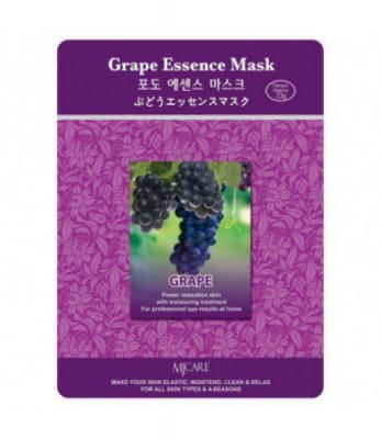 Маска тканевая виноград Mijin Grape Essence Mask 23гр: фото