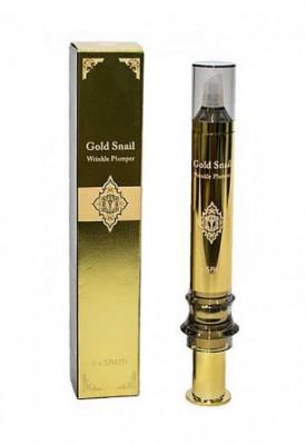 Средство для заполнения морщин с экстрактом улитки, золота и EGF комплексом THE SAEM Gold Snail Wrinkle Plumper 2X Power 12мл: фото