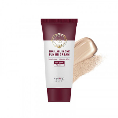 Крем ББ для лица улиточный Eyenlip Snail All In One Sun BB Cream #21 Light Beige 50мл: фото