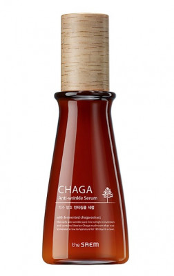 Сыворотка антивозрастная с экстрактом чаги THE SAEM CHAGA Anti-wrinkle Serum 65мл: фото
