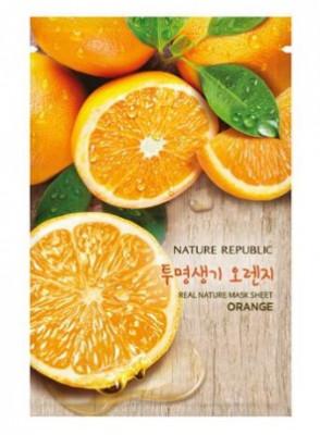 Маска для лица листовая NATURE REPUBLIC REAL NATURE ORANGE MASK SHEET 20мл: фото