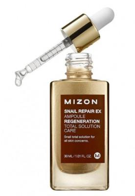Сыворотка с экстрактом улитки MIZON SNAIL REPAIR EX AMPOULE 30мл: фото