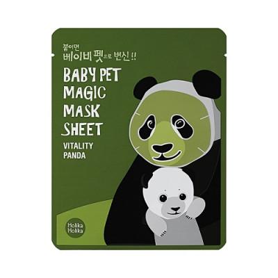 Маска-мордочка тканевая против темных кругов под глазами Holika Holika Baby Pet Magic Mask Sheet Vitality Panda 22 мл: фото