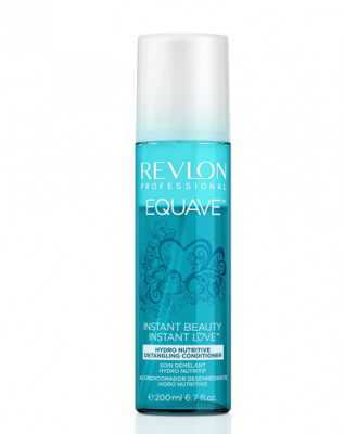 Кондиционер несмываемый 2-х фазный Revlon Professional EQUAVE INSTANT BEAUTY HYDRO NUTRITIVE DETANGLING CONDITIONER 200мл: фото