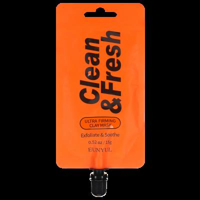 Маска для повышения упругости кожи EUNYUL CLEAN & FRESH ULTRA FIRMING CLAY MASK 15г: фото