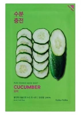 Маска тканевая успокаивающая HOLIKA HOLIKA Pure Essence Mask Sheet Cucumber, Огурец 20мл: фото