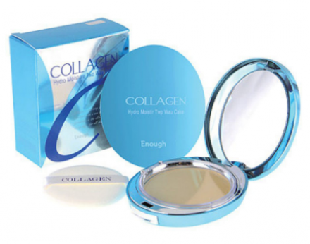 Пудра ENOUGH Collagen Hydro Moisture Two way cake SPF25 тон21 13г: фото