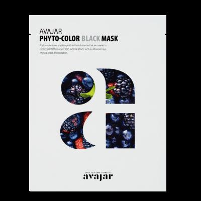 Маска для жирной кожи с расширенными порами Avajar Phyto-Color Black Mask 10шт: фото