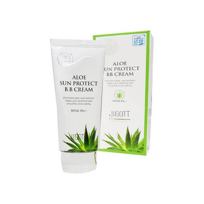 ВВ-крем с экстрактом алоэ JIGOTT Aloe Sun Protect BB Cream Spf41 Pa++: фото