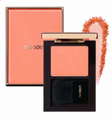 Румяна THE SAEM Eco Soul Luxe Blusher CR01 Maison Coral: фото