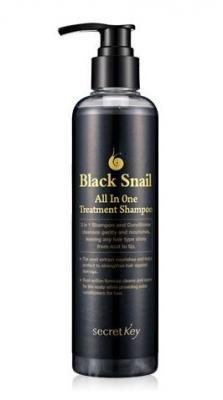 Шампунь улиточный SECRET KEY Black Snail All in One Treatment Shampoo 250мл: фото