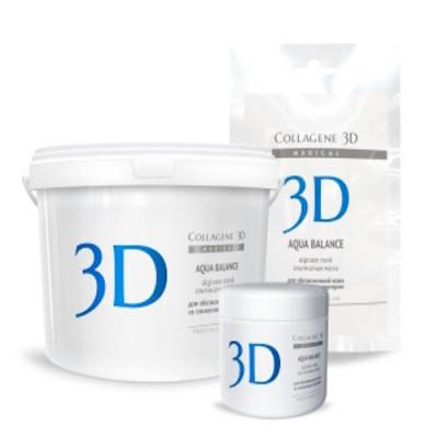 Альгинатная маска для лица и тела Collagene 3D AQUA BALANCE с гиалуроновой кислотой 30 г: фото