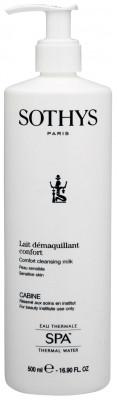 Молочко очищающее для чувствительной кожи с экстрактом хлопка и термальной водой Sothys Сomfort Cleansing Milk 500мл: фото