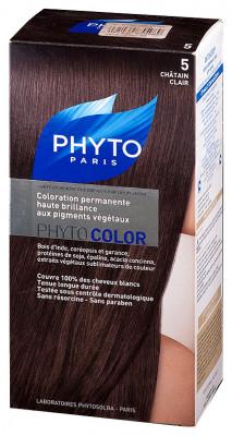 Краска для волос Phytosolba PhytoCOLOR №5 Светлый Шатен СДВОЙКА 2*0/40/12 мл: фото
