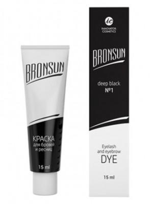Краска для ресниц и бровей BRONSUN #1 черный 15мл: фото