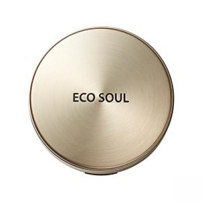 Пудра компактная золотая сменный блок THE SAEM Eco Soul Luxury Gold Pact 23 Natural BeigeRefill: фото