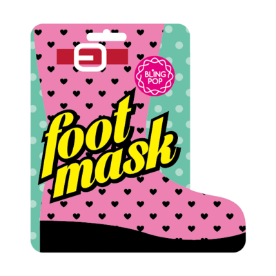 Маска для ног с маслом ши BLING POP SHEA BUTTER HEALING FOOT MASK 18г: фото