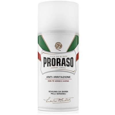 Пена для бритья для чувствительной кожи PRORASO Green Tea and Oats 300 мл: фото