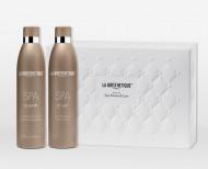 Набор для тела La Biosthetique Beauty Set Spa Shower & Care: Le Bain 250 мл + Le Lait 250 мл + Le Savon SPA + Белая стеганная косметичка: фото
