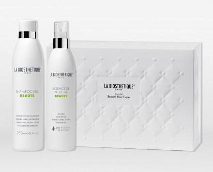 Набор для волос La Biosthetique Beauty Set Beaute Hair Care: Shampooing Beaute 250 мл + Essence De Proteine 200 мл + косметичка: фото