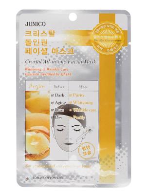 Маска тканевая c аргановым маслом Mijin Junico Crystal All-in-one Facial Mask Argan 25г: фото
