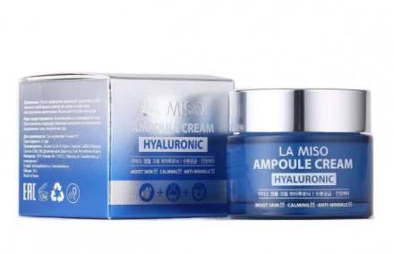 Крем ампульный увлажняющий с гиалуроновой кислотой LA MISO Ampoule Cream Hyaluronic 50 г: фото
