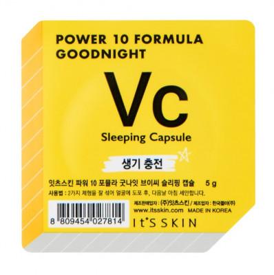 Маска-капсула ночная тонизирующая It'S SKIN Power 10 Formula Goodnight Sleeping Capsule VC 5 г: фото