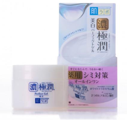 Гель гиалуроновый, выравнивающий тон кожи HADALABO Gokujyun Whitening Perfect Gel 100 г: фото