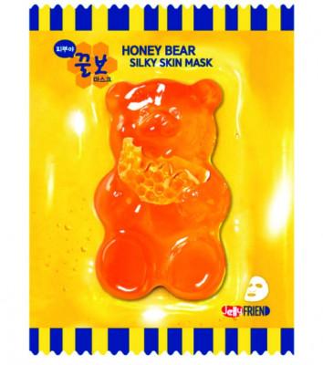 Тканевая маска с экстрактом прополиса FRIENVITA JellyFrien Honey Bear Mask 23 г: фото