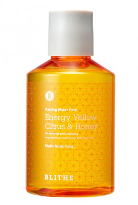 Сплэш-маска для сияния BLITHE Patting Splash Mask Energy Yellow Citrus & Honey 200 мл: фото