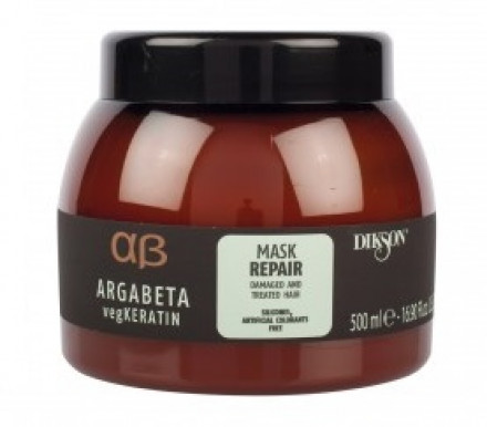 Маска для ослабленных и химически обработанных волос Dikson Argabeta vegKeratin Mask REPAIR 500мл: фото